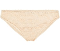 Amber Imagining Stretch-lace And Jersey Low-rise Briefs