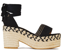 Xia Woven Cotton Platform Espadrille Sandals