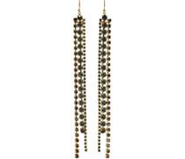 18-karat Gold-plated Sterling Silver Crystal Earrings
