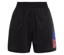 Shorts aus Shell aus Einer Baumwollmischung mit Applikationen
