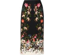 Maira floral-print silk crepe de chine skirt