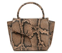 Montalcino Snake-effect Leather Tote