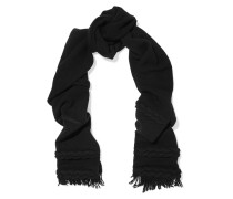 Cable Knit Wool And Cashmere-blend Scarf Schwarz