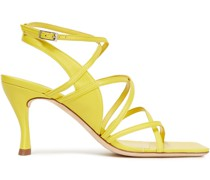 Christina Textured-leather And Suede Sandals