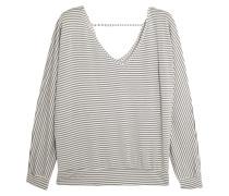Sadie Striped Modal-blend Jersey Pajama Top Grau