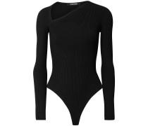 Vivian Ribbed-knit Thong Bodysuit