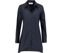 Asymmetric Cotton-poplin Shirt Mitternachtsblau