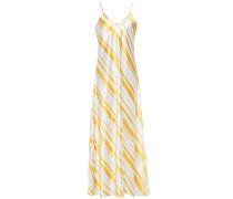 Geiko Striped Silk-satin Maxi Slip Dress