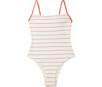 The Chelsea Striped Ribbed Swimsuit