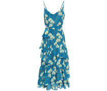 Coco Tiered Printed Crepe De Chine Maxi Dress