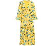 Tiered Printed Georgette Midi Dress