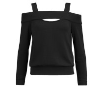 Fleece-lined Cutout Jersey Top Schwarz