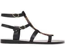 + Caravana Sandalen aus Leder mit Federn