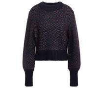Beckia Cropped Pullover aus Meliertem Strick