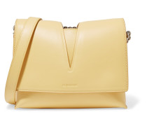 Cutout Leather Shoulder Bag Pastellgelb