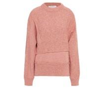 Paneled Marled Cotton-blend Sweater