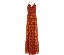 Kemi Maxi-wickelkleid aus Seiden-voile mit Print