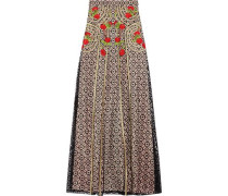 Antila embroidered cotton-blend lace maxi skirt
