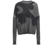 Pullover aus Jacquard-strick aus Baumwolle