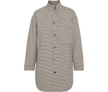 Vicago Oversized Houndstooth Flannel Shirt