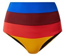 Lydia Hoch Sitzendes Bikini-höschen mit Streifen
