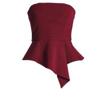 Strapless Stretch-knit Peplum Top