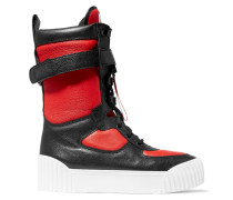 Lace-up Printed-leather Boots Rot