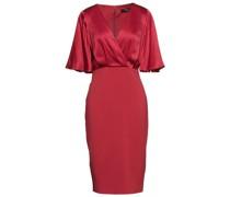 Kleid aus Seidensatin und Stretch-crêpe mit Wickeleffekt