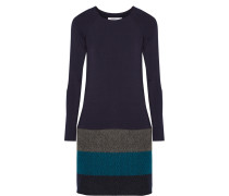 Lorax Stretch-jersey And Wool-blend Mini Dress Mitternachtsblau