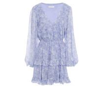Fae Tiered Floral-print Chiffon Mini Dress