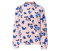 Floral-print Silk Top Pastellrosa
