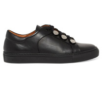 Studded Leather Sneakers Schwarz