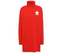 Intarsia Cashmere-blend Turtleneck Sweater