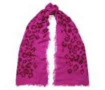 Sasha Leopard-print Modal And Cashmere-blend Scarf Fuchsia