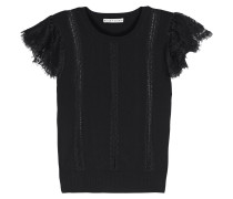 Rosio Lace-trimmed Stretch-knit Top
