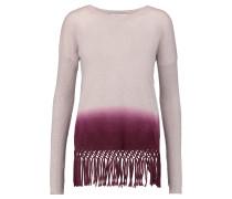 Fringed Dip-dyed Cashmere Sweater Burgunder