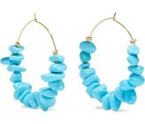 22-karat Gold-plated Resin Hoop Earrings
