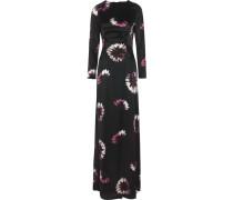 Floral-print Silk Gown Schwarz