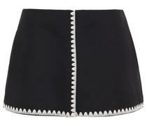 Shorts aus Filz aus Einer Wollmischung mit Stickereien