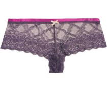 Madeline low-rise stretch-lace briefs