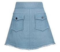 Knitted Cotton Mini Skirt Heller Denim