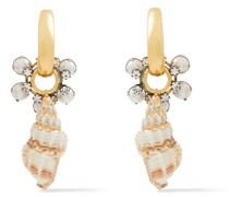 24 Kt. Verete Ohrringe mit Verschiedenen Steinen