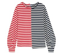 Paneled Striped Cotton-jersey Top