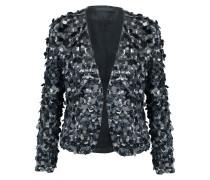 Sequined Silk Jacket Schwarz