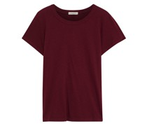 T-shirt aus Bio-pima-baumwoll-jersey mit Flammgarneffekt
