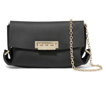 Eartha Leather Shoulder Bag Schwarz