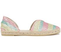Hamptons Gestreifte Espadrilles aus Lurex® mit Glitter-finish