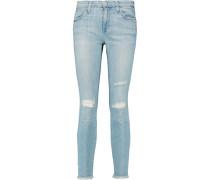 The Stiletto Mid-rise Skinny Jeans Heller Denim