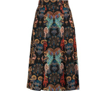 Regal Monkey printed silk skirt