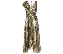 Eda Wrap-effect Silk And Lurex-blend Jacquard Midi Dress